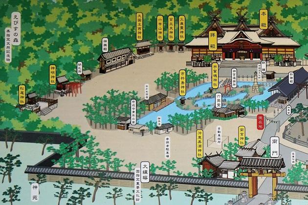 西宮神社の参拝順序は特にない。しいてあげるなら本殿からお参りするべき。