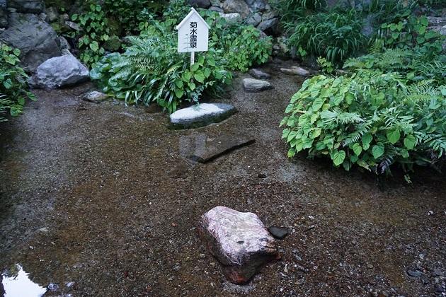 伝説の菊水霊泉。実際に良質の水で日本100名水にも選ばれている。