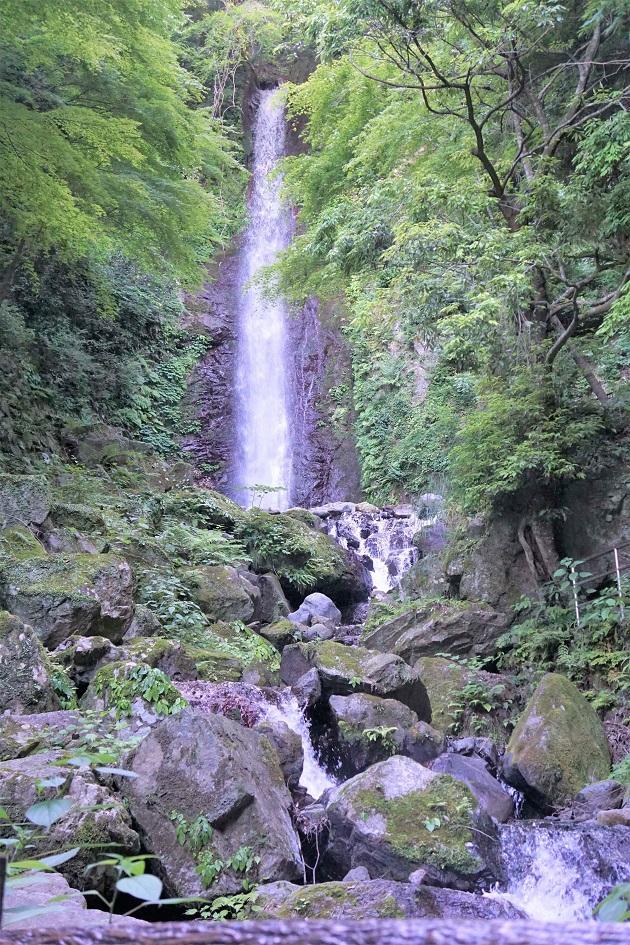 養老の滝に癒しの効果があるのは五感が解放されるため。気持ちの良い空気の流れもある。昔話もあながち嘘ではない。