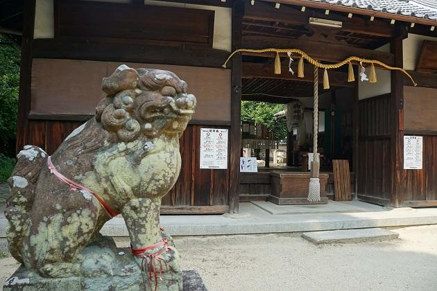 おかげさま参りで知られる二ノ宮神社。境内は鎮守の杜に包まれた癒しの空間が広がっている。