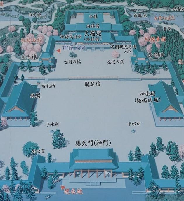 平安神宮は平安京の中枢部を再現した神社。文化的価値も大きい。
