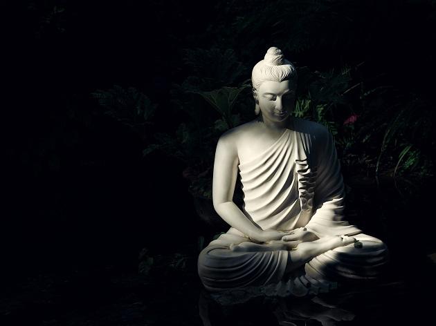 悟りの光が訪れシッダールタはブッダに変わった。