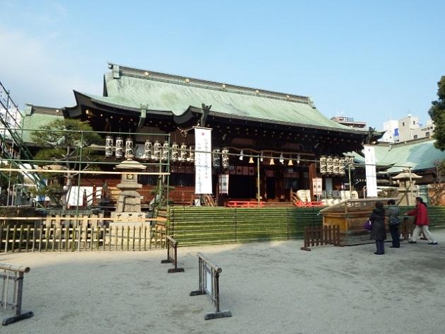 大阪天満宮の社殿。