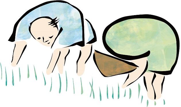 農民のイメージカット。雨降り大明神への信仰が民の心を支えた。