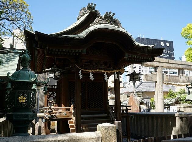 大阪天満宮の前身である大将軍社。いまは摂社になっている。