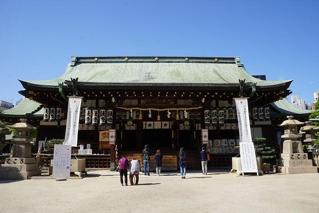 大阪天満宮の本殿。