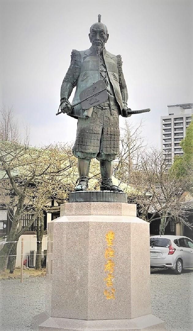 豊国神社の豊臣秀吉公の像