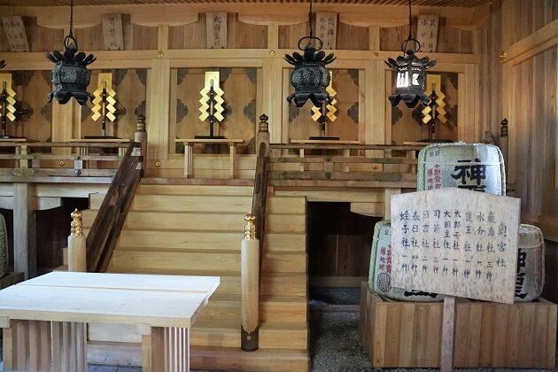 縁結びの神様を祭る愛宕神社の奥宮。