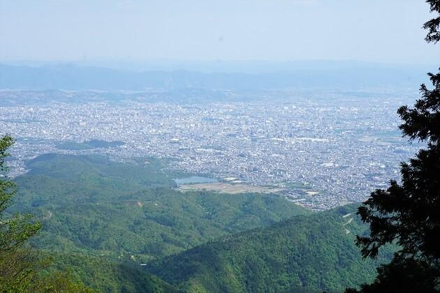 愛宕山からみる京都の町の絶景。