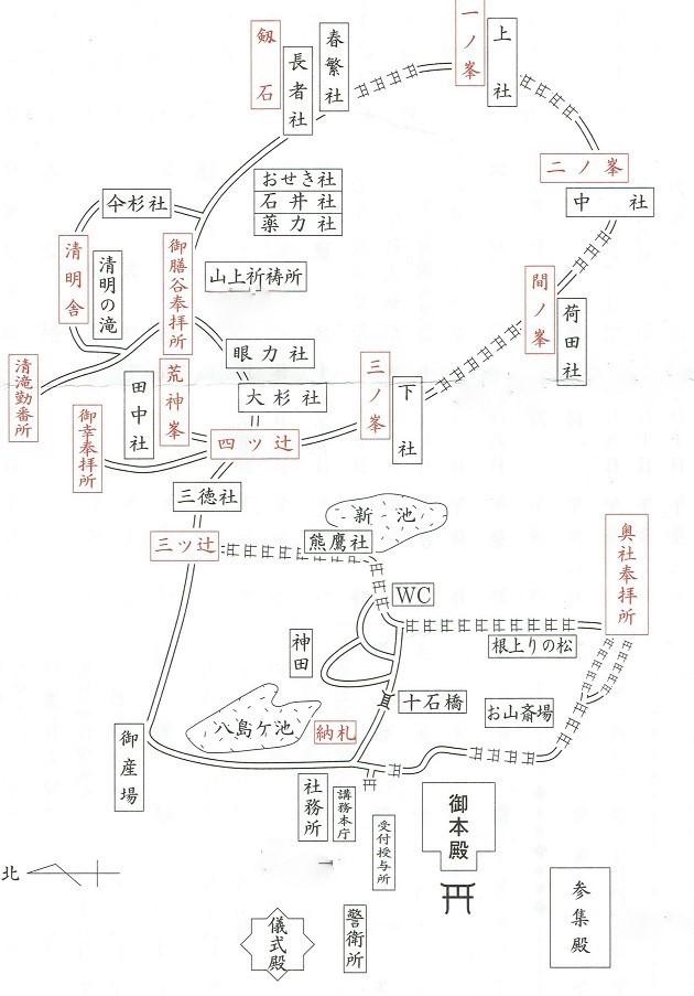 伏見稲荷大社のマップ