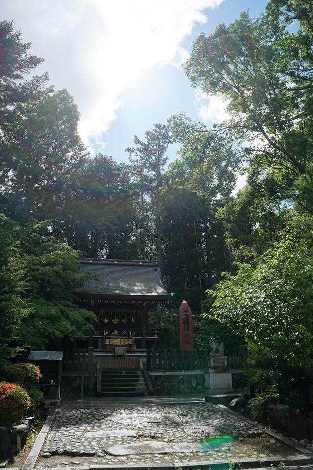 今宮神社の織姫社の全体像