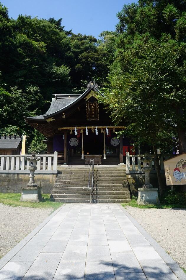 毛谷黒龍神社の拝殿