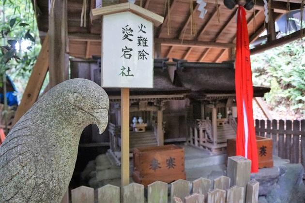 大豊神社の愛宕社の狛鳶