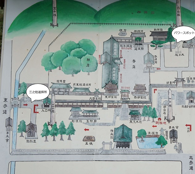 諏訪大社本宮の境内地図