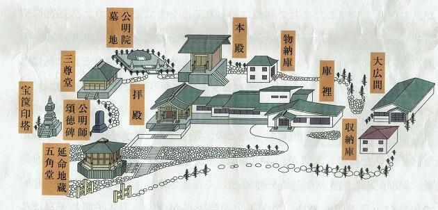 公明院の境内図