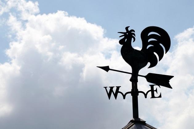 酉年を象徴する鳥をイメージした風見鶏