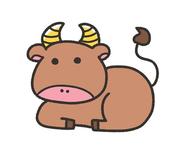 丑年の象徴である牛のイラスト