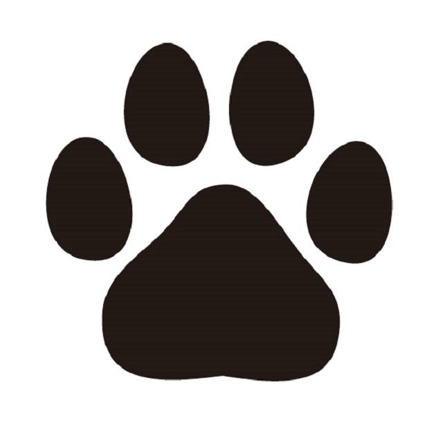 戌年を象徴する犬の手形