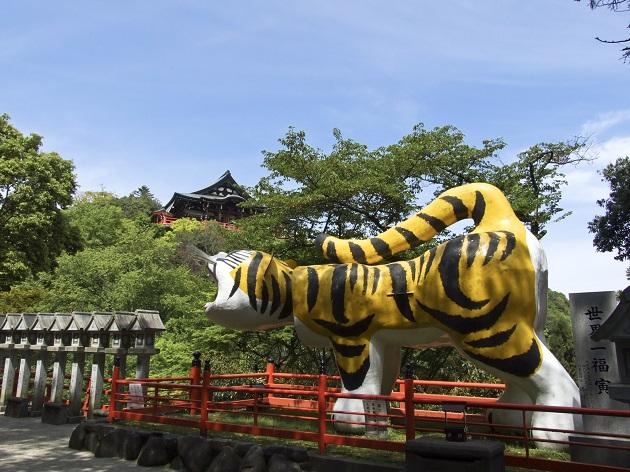 虎にゆかりの深い信貴山と世界一福寅